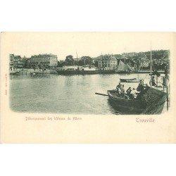 carte postale ancienne 14 TROUVILLE. Débarquement des Bateaux du havre vers 1900