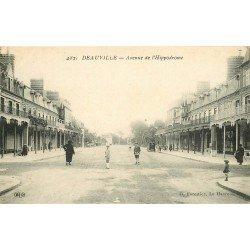 carte postale ancienne 14 TROUVILLE. Avenue de l'Hippodrome