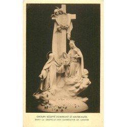 carte postale ancienne 14 LISIEUX. Groupe sculpté du Maitre Autel dans Chapelle des Carmélites