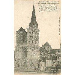 carte postale ancienne 14 LISIEUX. Cathédrale Saint-Pierre 1905
