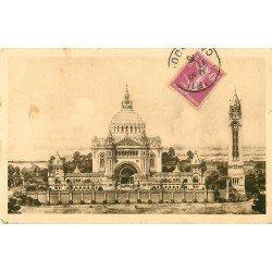 carte postale ancienne 14 LISIEUX. La Basilique son projet 1935