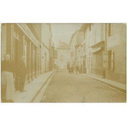 carte postale ancienne 01 Châtillon-sur-Chalaronne. Rue Pasteur 1910. Carte Photo rare