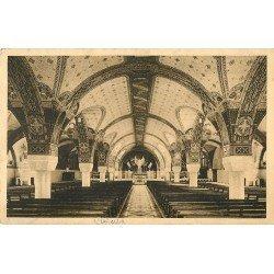 carte postale ancienne 14 LISIEUX. Crypte de la Basilique 1936
