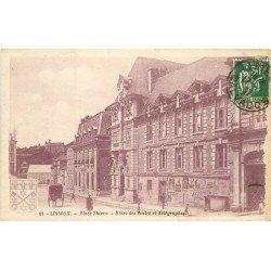 carte postale ancienne 14 LISIEUX. Hôtel des Postes et Télégraphes 1937