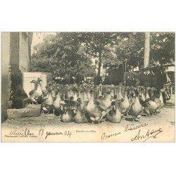 carte postale ancienne 15 AURILLAC. Le Marché aux Oies 1904