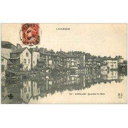 carte postale ancienne 15 AURILLAC. Quartier du Buis 1907