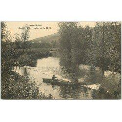 carte postale ancienne 15 CERE. La Vallée et rameur 1915