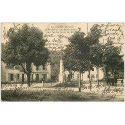 carte postale ancienne 15 CHAMPS. Monument aux Morts et la Poste