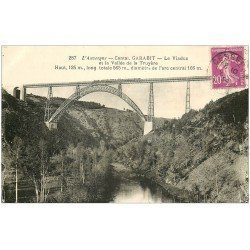 carte postale ancienne 15 GARABIT. Le Viaduc sur Vallée de la Truyère 1934