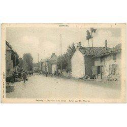 carte postale ancienne 15 JUSSAC. Quartier de la Prade. Route Aurillac-Maurjac