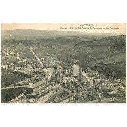 carte postale ancienne 15 SAINT-FLOUR. Le Faubourg 1908