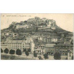 carte postale ancienne 15 SAINT-FLOUR. Vue générale 1923