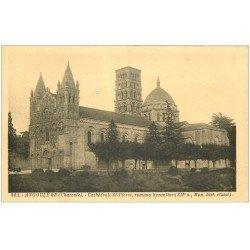 carte postale ancienne 16 ANGOULEME. Cathédrale Saint-Pierre 1938