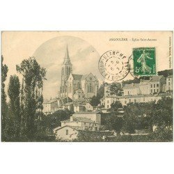 carte postale ancienne 16 ANGOULEME. Eglise Sainte-Ausone 1912