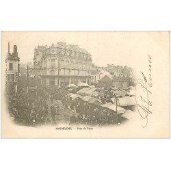 carte postale ancienne 16 ANGOULEME. Jour de Foire. Carte Pionnière vers 1900