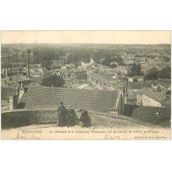 carte postale ancienne 16 ANGOULEME. La Charente et Faubourg Lhoumeau du Jardin Hôtel de France 1903