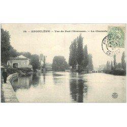 carte postale ancienne 16 ANGOULEME. Port d'Houmeau 1907