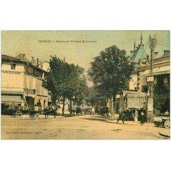 carte postale ancienne 16 COGNAC. Boulevard Denfert-Rochereau. Rare carte toilée 1908. Edition Aux Dames de France