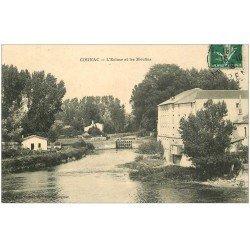 carte postale ancienne 16 COGNAC. Ecluse et Moulins 1908