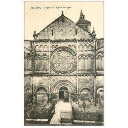 carte postale ancienne 16 COGNAC. Eglise Saint-Léger
