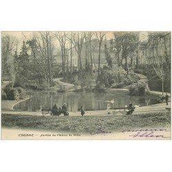 carte postale ancienne 16 COGNAC. Jardin de l'Hôtel de Ville 1903