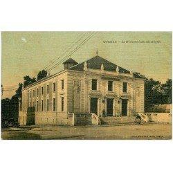 carte postale ancienne 16 COGNAC. Nouvelle Salle Municipale. Superbe carte toilée 1908. Edition Aux Dames de France