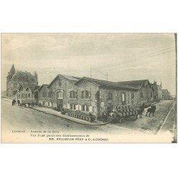 carte postale ancienne 16 COGNAC. Transports de Tonneaux Etablissements Pellisson