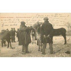 carte postale ancienne 16 ANGOULÊME. Croquis de Foire aux Ânes et Mules. Entre cinq et vingt cinq ans ? 1905