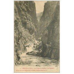 carte postale ancienne 66 AMELIE-LES-BAINS. Passerelle aux Gorges de Mondoni