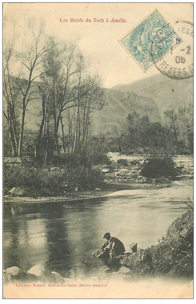 66 amelie les bains p cheurs l 39 aff t bords du tech 1906 - Office du tourisme amelie les bains 66 ...