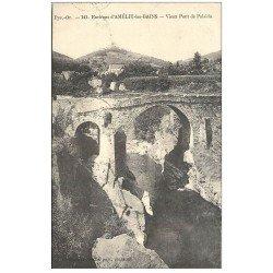 carte postale ancienne 66 AMELIE-LES-BAINS. Vieux Pont de Palalda 1926