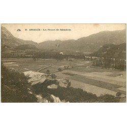 carte postale ancienne 66 ARGELES. Les Pierres de Balandrau 1931. Timbre manquant