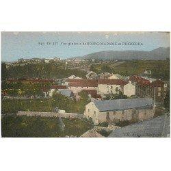 carte postale ancienne 66 BOURG-MADAME ET PUIGCERDA. Vue générale