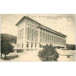 carte postale ancienne 66 FONT-ROMEU ODEILLO. Grand Hôtel 1927