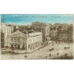 carte postale ancienne 66 PERPIGNAN. Cinéma Place de la Victoire 1926