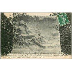 carte postale ancienne 66 PERPIGNAN. Square des Platanes Harmonies 1912