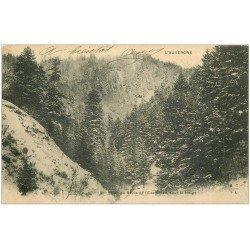 carte postale ancienne 63 AUVERGNE. Ravin de l'Eau Salée. Timbre Taxe 1903