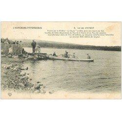 carte postale ancienne 63 AYDAT. Le Lac vers avec Passeur pour Touristes 1913