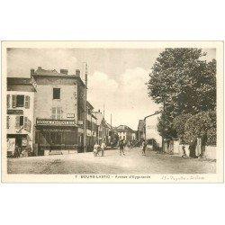 carte postale ancienne 63 BOURG-LASTIC. Avenue d'Eygurande Economats du Centre