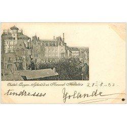 carte postale ancienne 63 CHATEL-GUYON. Splendid et Nouvel Hôtels 1903