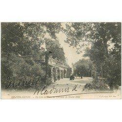 carte postale ancienne 63 CHATEL-GUYON. Terrasses Nouvel Hôtels