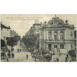 carte postale ancienne 63 CHATEL-GUYON. Théâtre Avenue Baraduc 1915 Villa Richelieu