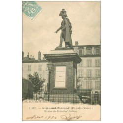 carte postale ancienne 63 CLERMONT-FERRAND Lot 10 Cpa. Statue Delson, Portail Maison Lys, Place Jaude, Rue de Gras, ...