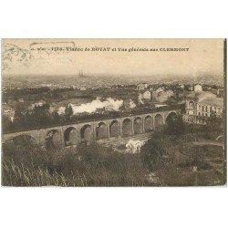63 CLERMONT-FERRAND Lot 10 Cpa. Train Viaduc, Place Victoire et Jaude, Fontaine Amboise Cours Sablon, Jardin Lecoq...