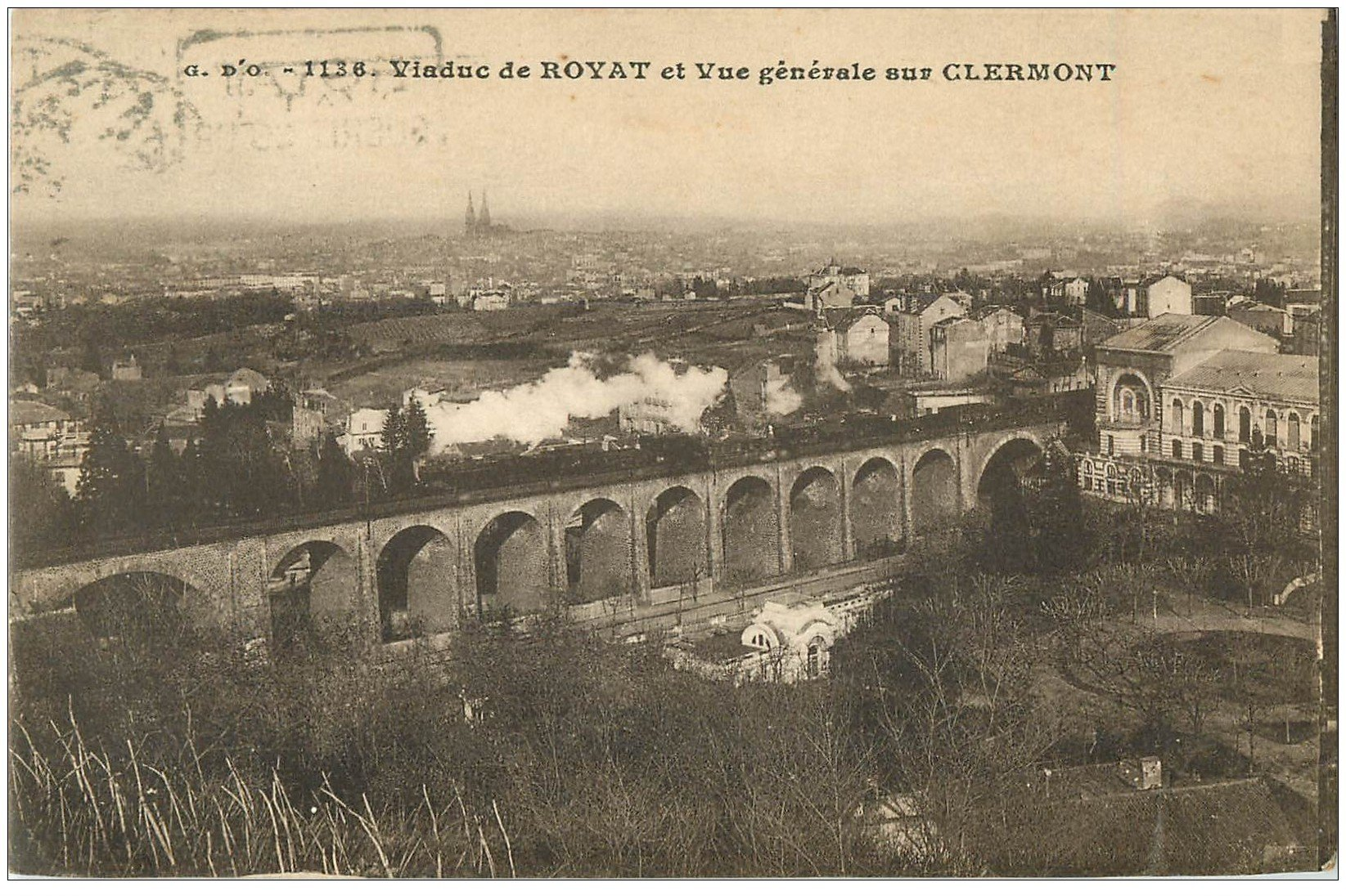63 clermont ferrand lot 10 cpa train viaduc place - Decoration jardin exterieur fontaine clermont ferrand ...