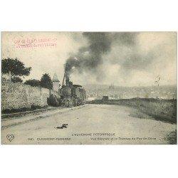 carte postale ancienne 63 CLERMONT-FERRAND. Arrivée du Tramway du Puy-de-Dôme 1911