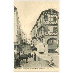 carte postale ancienne 63 CLERMONT-FERRAND. Attelage Maison de l'Apothicaire