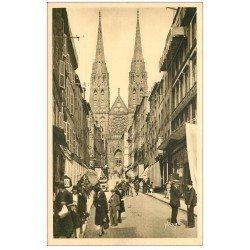 carte postale ancienne 63 CLERMONT-FERRAND. Cathédrale Rue des Gras