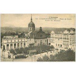 carte postale ancienne 63 CLERMONT-FERRAND. Eglise Place de Jaude et Crédit Lyonnais Grand Hôtel