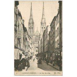 carte postale ancienne 63 CLERMONT-FERRAND. La Rue des Gras
